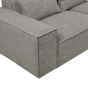FELIX BLOCK 4 SEATER SOFA - CEMENT