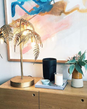 PALM TABLE LAMP - GOLD