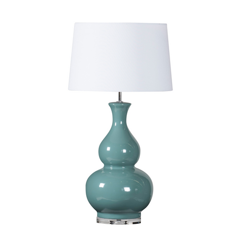 CLARENCE LAMP - TEAL GREEN