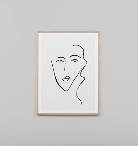 VISAGE FRAMED ARTWORK