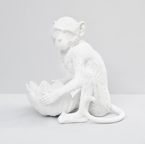 WHITE MOOSE MONKEY BOWL - WHITE