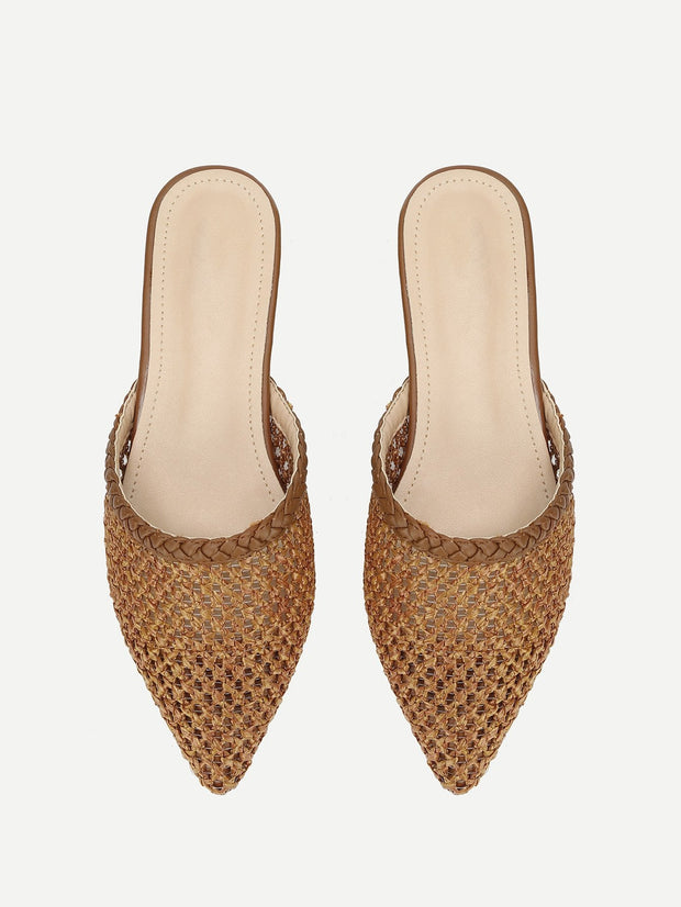 Pointed Toe Net Flats