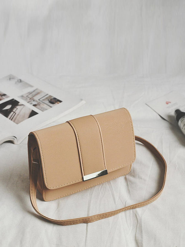 Metal Detail Flap Bag