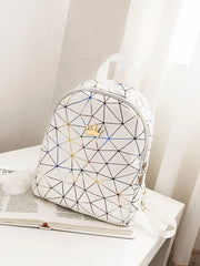 Crown Decor Geometric Print Backpack