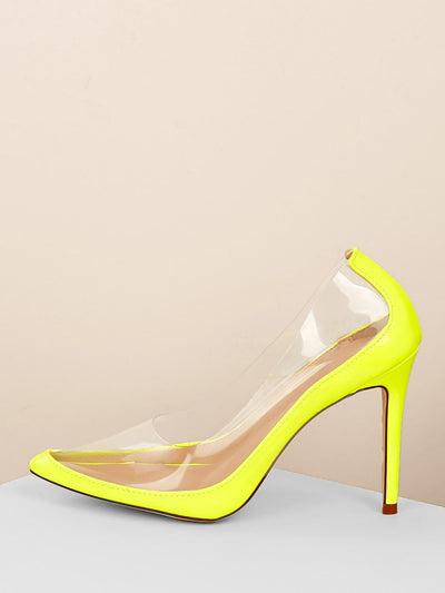 Buy women's Pointy Toe Clear Detail Stiletto Pumps available at very affordable prices. Free shipping and free returns on selected orders. Place yours now.