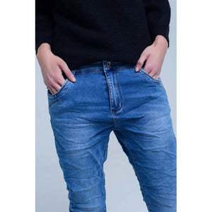 Boyfriend jean with zip pocket detail