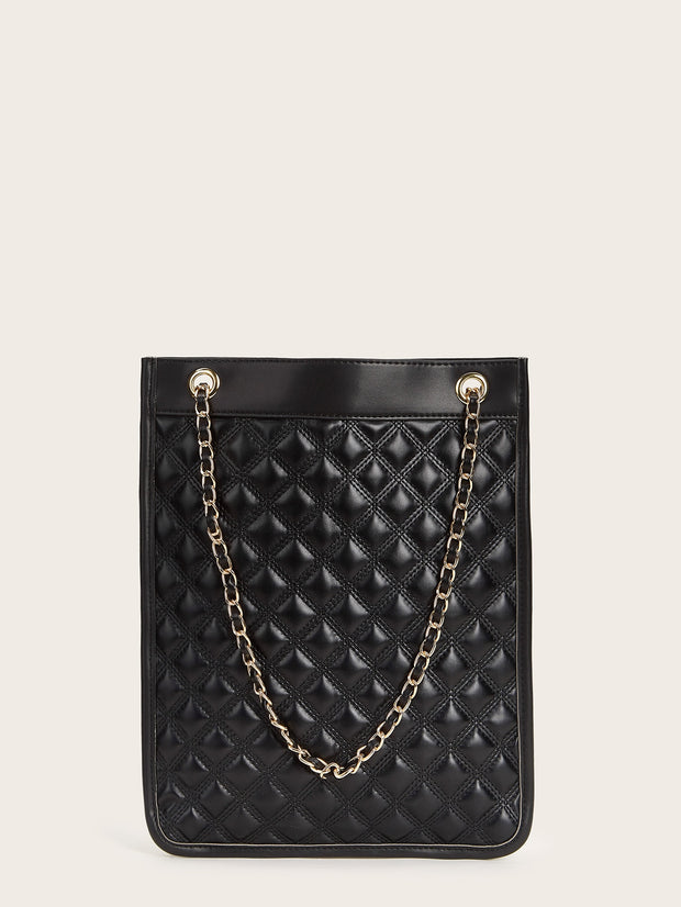 Quilted Chain Tote Bag