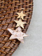 Dangle Star Trio Earrings