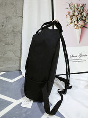 Double Pocket Side Canvas Backpack
