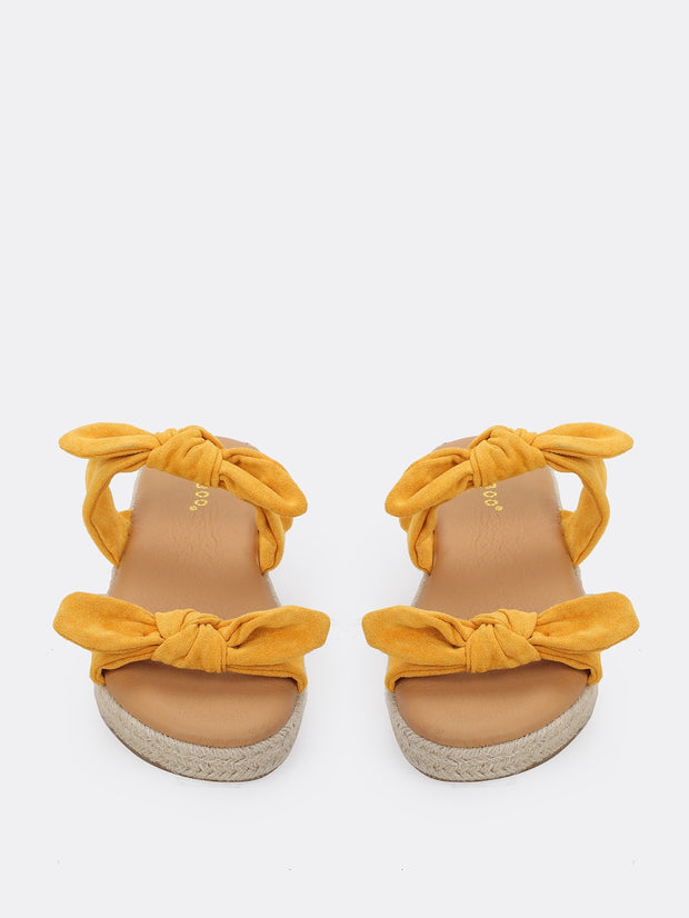 Double Twist Bands Jute Platform Sandals