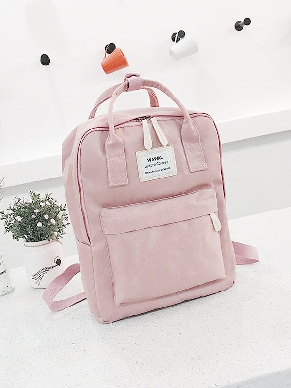 Slogan Patch Detail Backpack