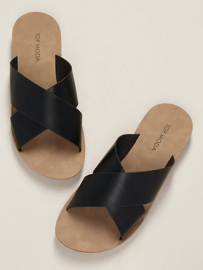 Buy women's Open Toe Criss Cross Band Slide Sandals available at very affordable prices. Enjoy free shipping and returns on selected orders. Place yours now.