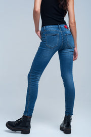 Buy Skinny Jean Embroidered Detail