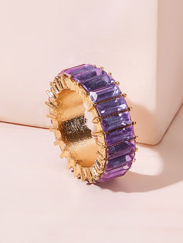 Textured Glass Ring 1pc