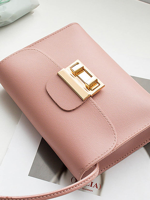 Metal Detail Flap Crossbody Bag