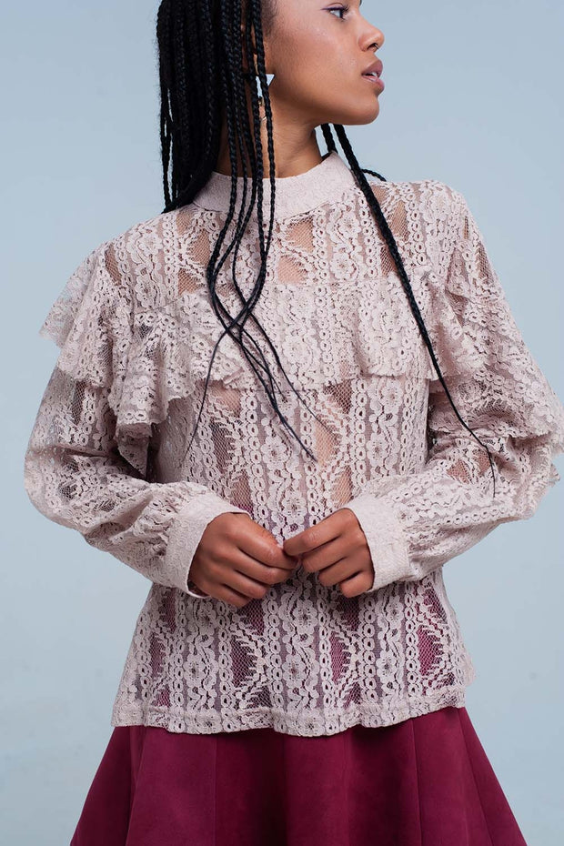 Women's Lacy Shirt and Ruffles