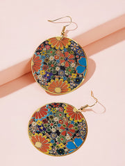 Flower Drop Earrings 1pair