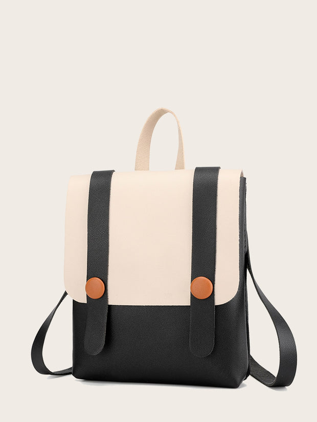 Two Tone Flap Backpack