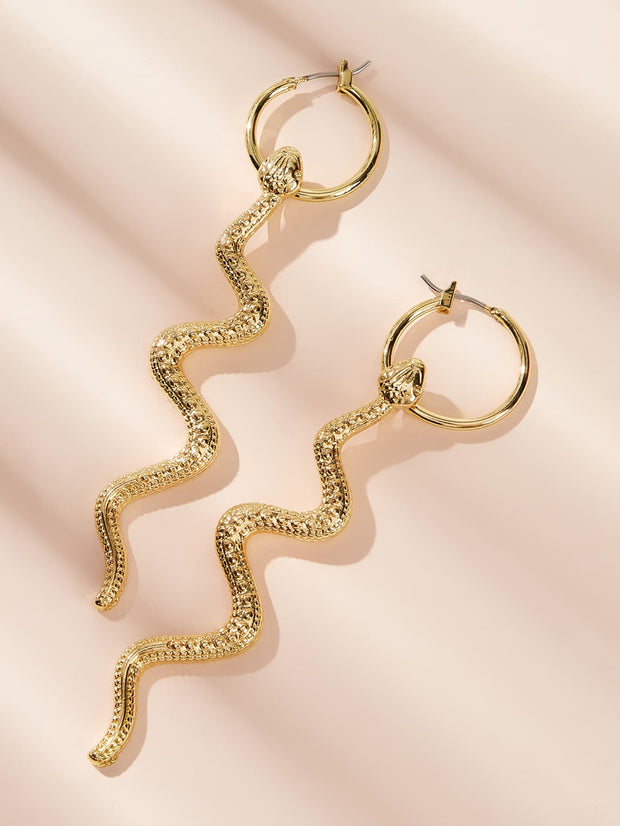 Serpentine Hoop Earrings 1pair
