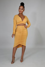 Load image into Gallery viewer, Scrunched Silk Skirt Set
