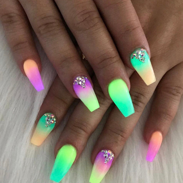 6 PC Glow Up Acrylic Powder - Day Brights Collection - HOTNAILART