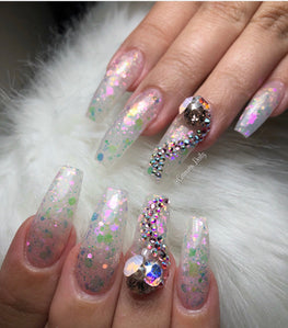 Unicorn Dreams Glow Up Acrylic Powder - HOTNAILART