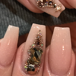 Rose Gold Caviar Metal Beads - HOTNAILART