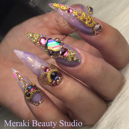 Gold Caviar Metal Beads - HOTNAILART