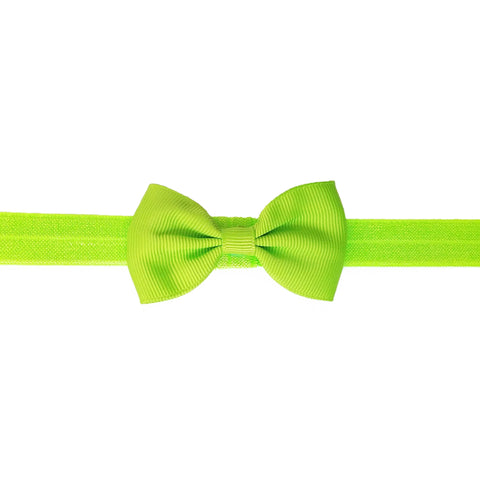 "2.5"", grosgrain, headband,lime green"