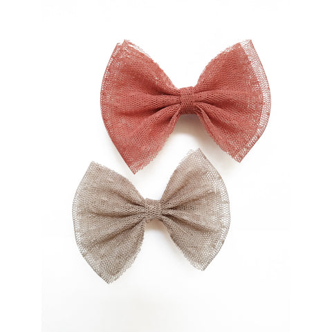 "2 Pack 3.5"" Hair Bow Clips"