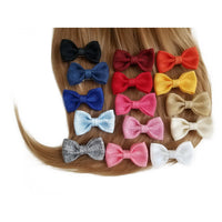 "Tan 3"" Burlap Hair Bow clips"