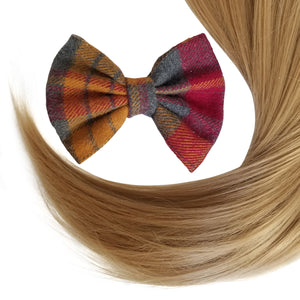 "4.5"" Plaid Fall Collection Hair Bow Clip"