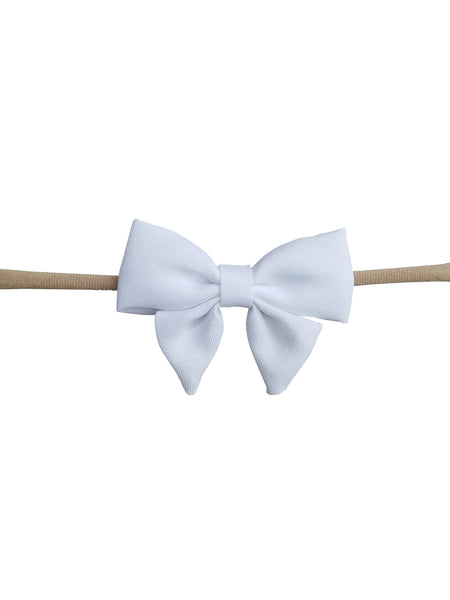 Handmade Hair Bow on Stretchy Nylon Headband