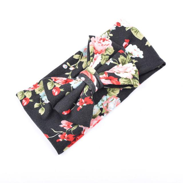 Lrg Floral Bow Head band