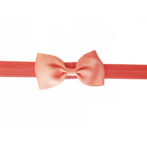 "Light Pink 2.5"" Grosgrain Hair bow Headband"