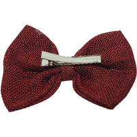 "Red 4"" inch Burlap Bows Universal"