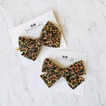 Cheetah Paw Pinwheel Hair Bow