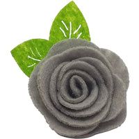 "1.5"", felt, rose, hair clip, clip,grey,gray"