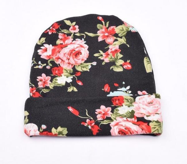 Infant Floral Bow Hat
