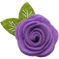 "1.5"", felt, rose, hair clip, clip,lavendar,light purple"
