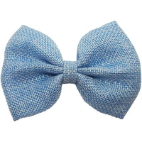 "4"", Burlap, Bow, Light blue"