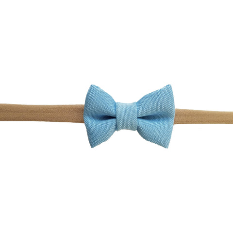 "Aqua Blue 1.5"" Tiny Bow Headband"