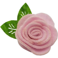 "1.5"", felt, rose, hair clip, clip,light pink"