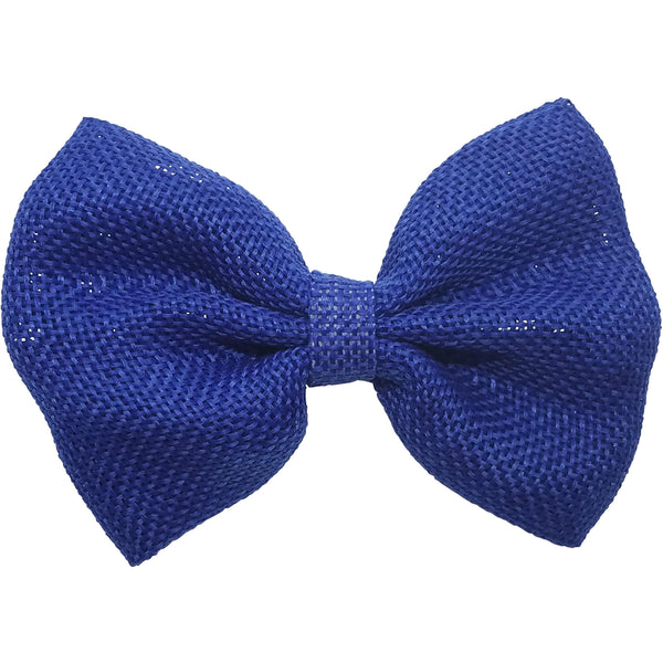"4"", Burlap, Bow, Royal blue"