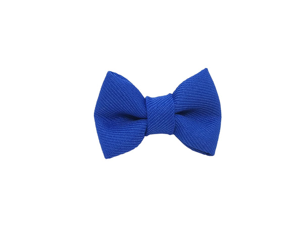 "Royal Blue 1.5"" Inch Small Bow clip Universal"