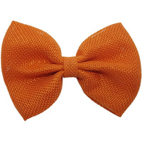 "4"", Burlap, Bow, Orange"
