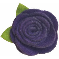 "1.5"", felt, rose, hair clip, clip,plum,plum purple, purple"
