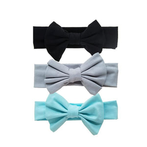 Soft Lrg Bow Cotton Headband