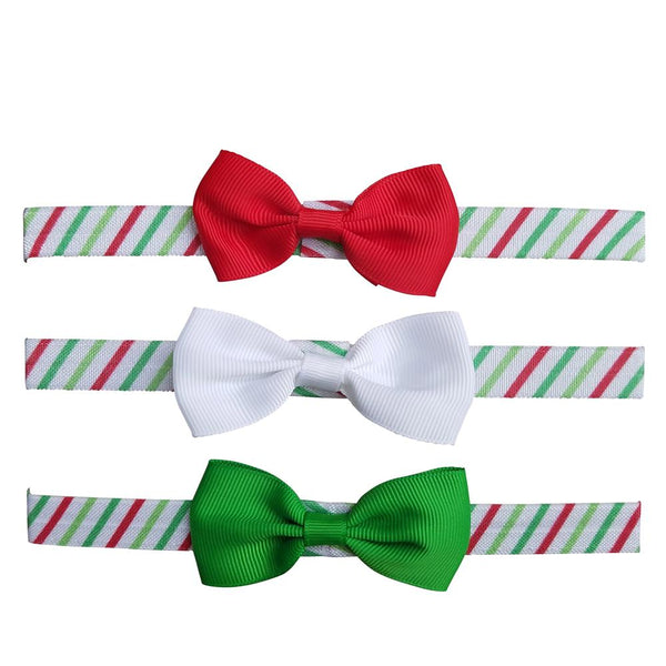 3 Pack Christmas Spirit Bow Headbands