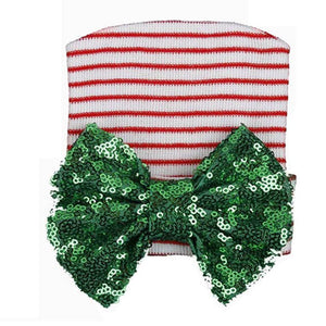 Sequin Christmas Infant Hospital Hat